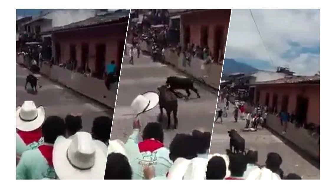 VIDEO: La terrible embestida de un toro que hizo dar vueltas en el aire a un joven
