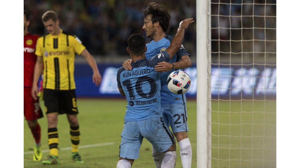 ¿Gordo? El Kun Agüero entró y le dio el triunfo al Manchester City