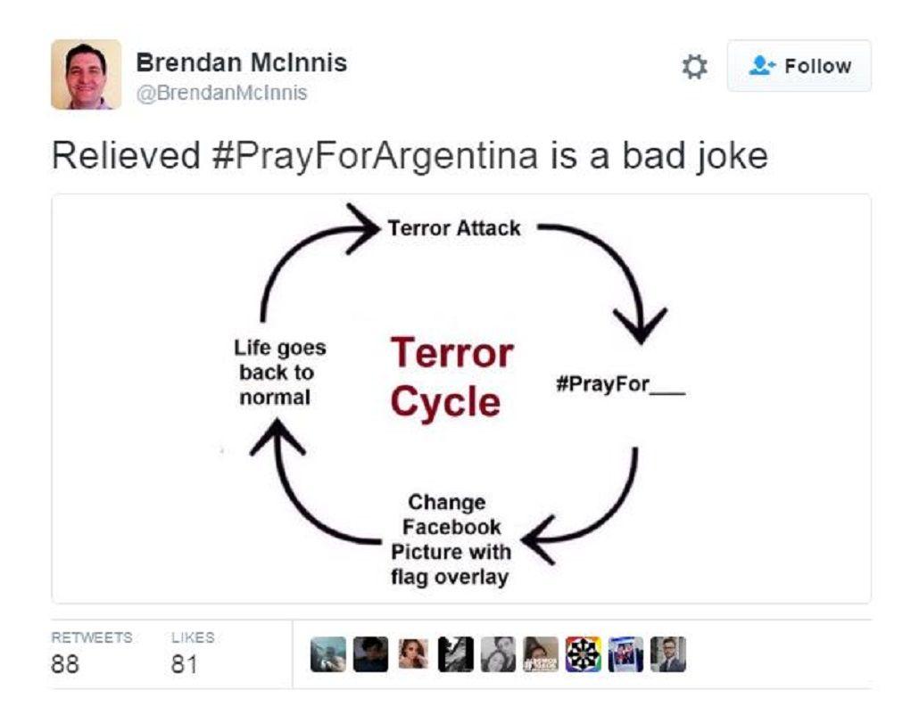 #PrayForArgentina: Un chiste de mal gusto que se viralizó en las redes sociales
