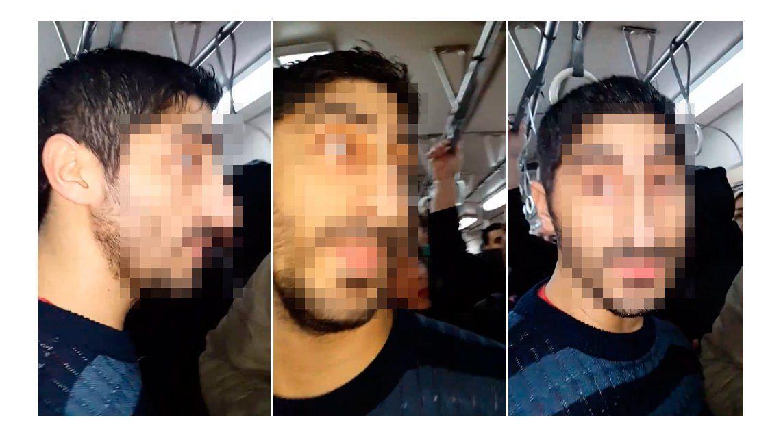 VIDEO: Escracharon a un depravado que viajaba con la bragueta baja en el tren Roca