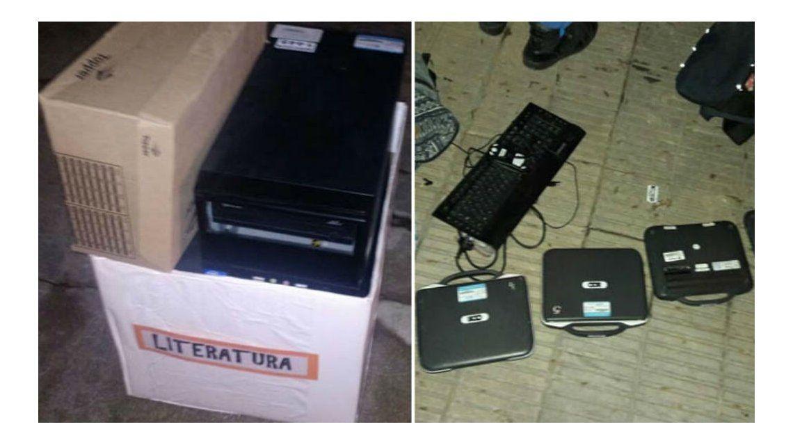 Tres nenes aprovecharon las vacaciones para robar computadoras de la escuela