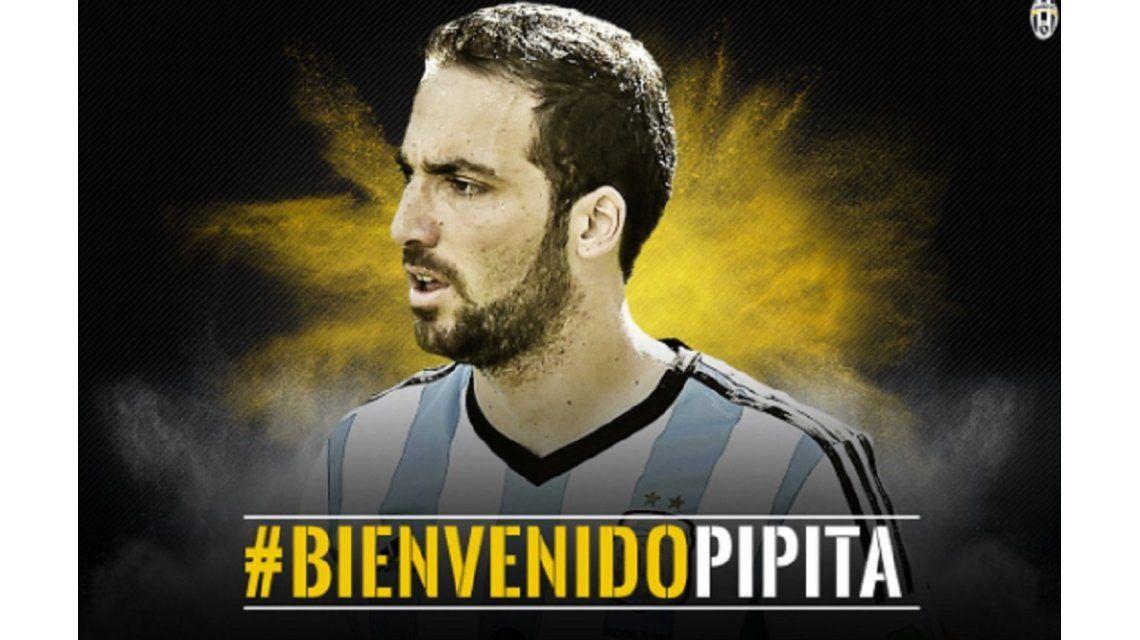 #BienvenidoPipita Juventus anunció la llegada de Gonzalo Higuaín