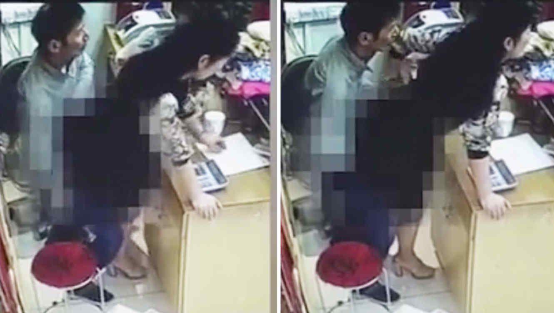 VIDEO: Tuvo sexo con una clienta detrás del mostrador y los grabó la cámara de seguridad