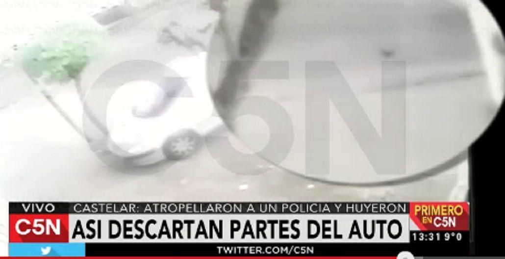 VIDEO: Atropellaron a un policía en Castelar y se dieron a la fuga