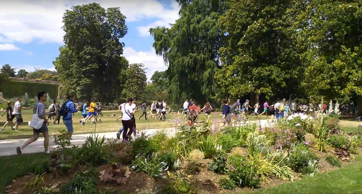 VIDEO: Corridas en un parque de Francia porque encontraron un pokémon