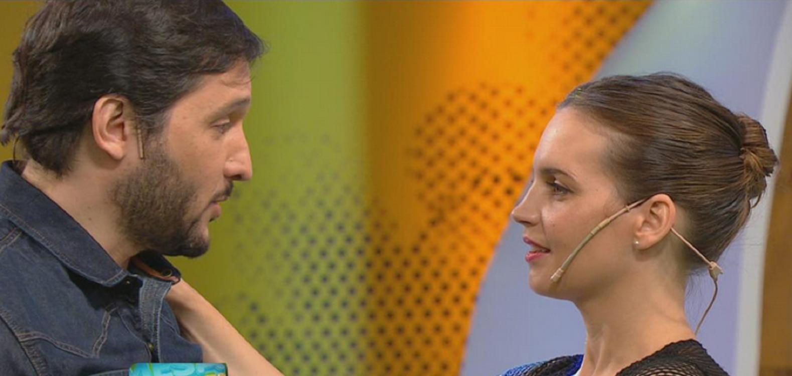 Divertido cruce entre Sabrina Garciarena y Germán Paoloski por la escena con Luciano Castro