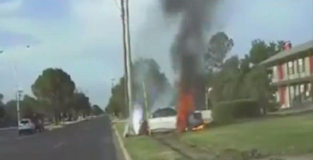 VIDEO: Manejó borracho, se escapó de la policía y terminó de la peor forma