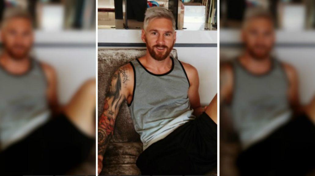 El cambio de look de Lionel Messi: del castaño al platinado