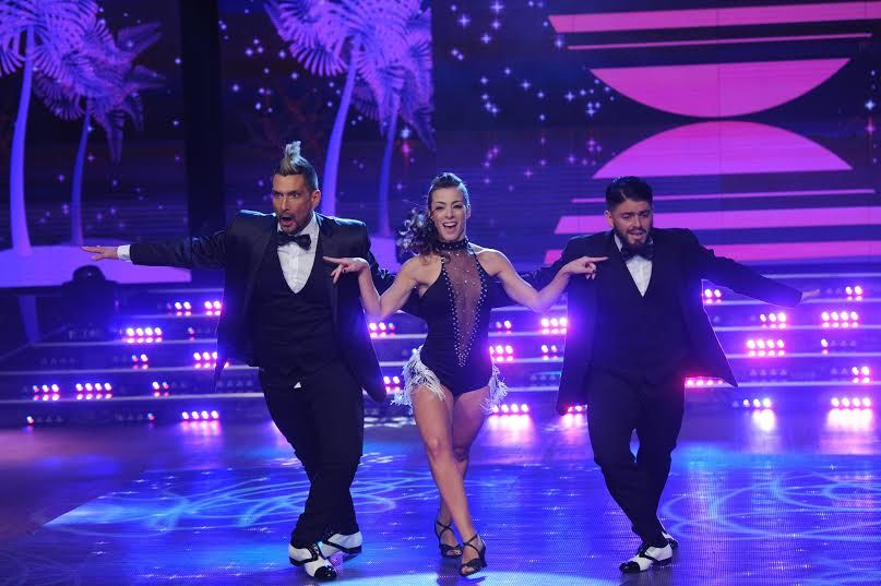 El Tirri bailó la salsa de tres con Diego Maradona Junior
