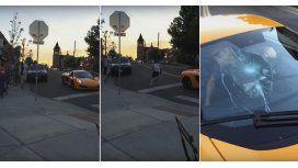 Le rompen su auto por ignorar una señal