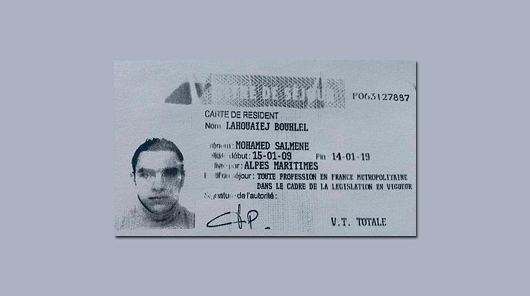 Publican la licencia de conducir del autor del atentado en Niza