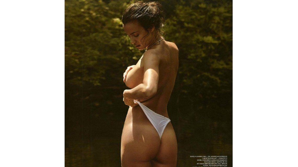 Irina Shayk, la ex de Cristiano Ronaldo, se desnudó para tomar un poco de sol