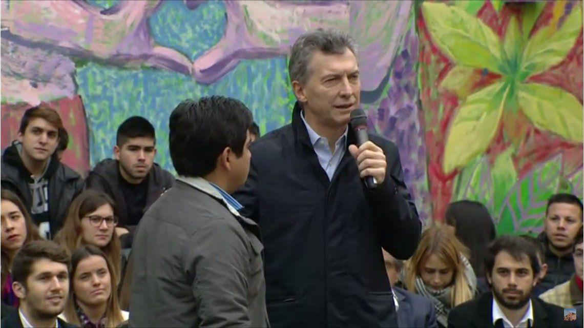 Macri encabezó un acto en Devoto, pero no habló del cacerolazo