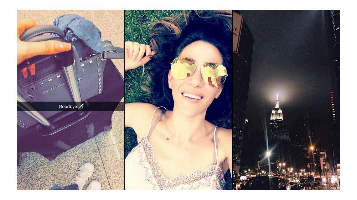 Las vacaciones de soltera de Jimena Barón en Nueva York: Con los hombres de traje flasheo 50 sombras de Grey