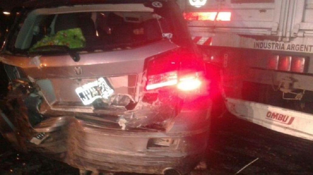 Impresionante choque múltiple deja dos muertos en Santa Fe