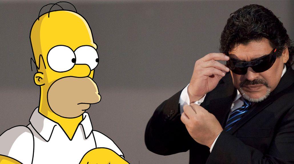 Maradona dijo que odiaba a los Simpson y Homero le respondió: Es un gordo tetón