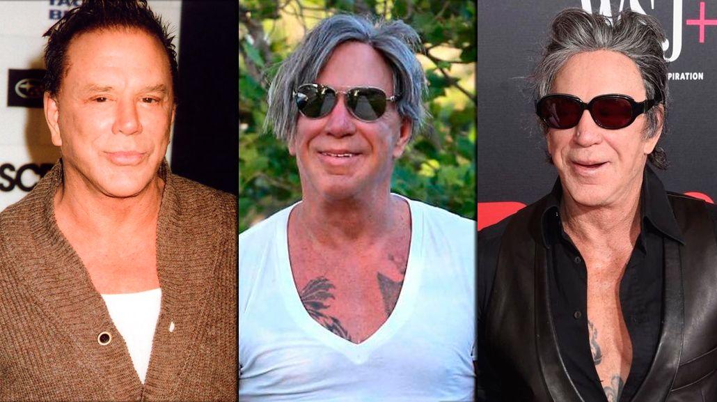 Irreconocible: la nueva cara de Mickey Rourke, a sus 64 años