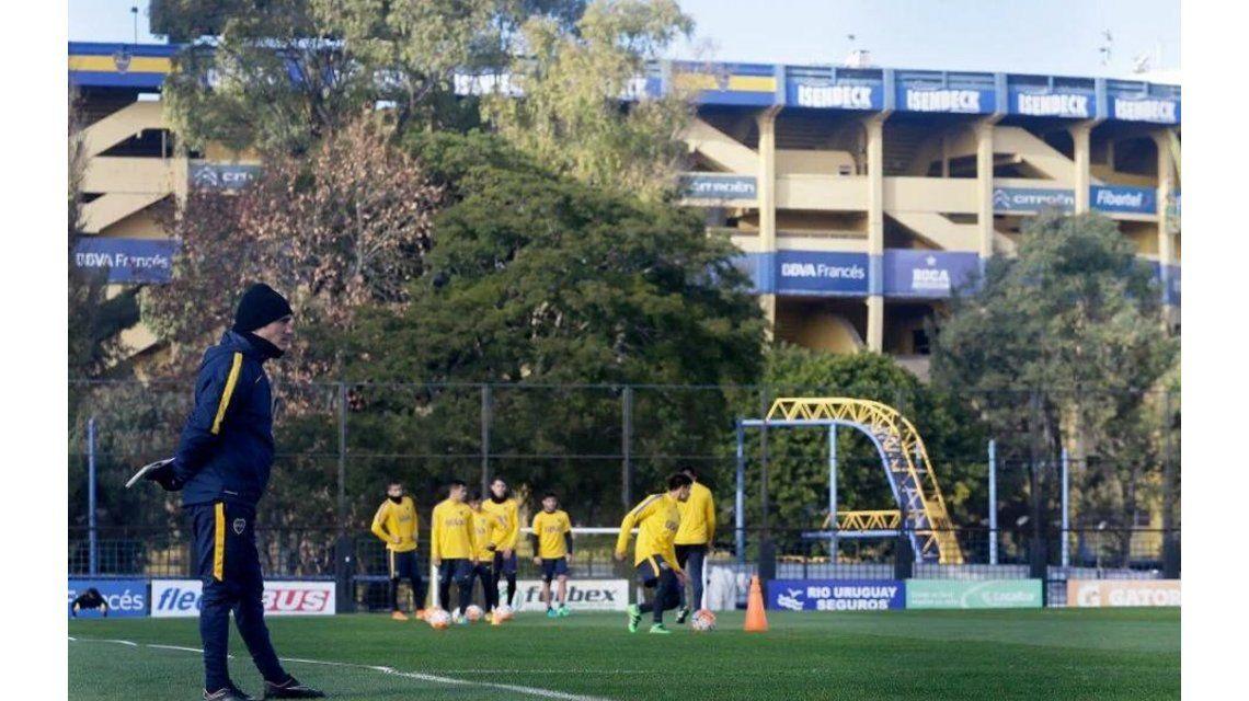 Boca volvió a los entrenamientos con tristeza y sin Agustín Orion