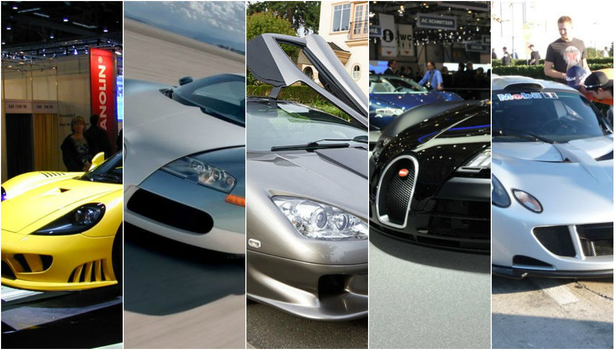 Éstos son los 5 autos más rápidos de la historia