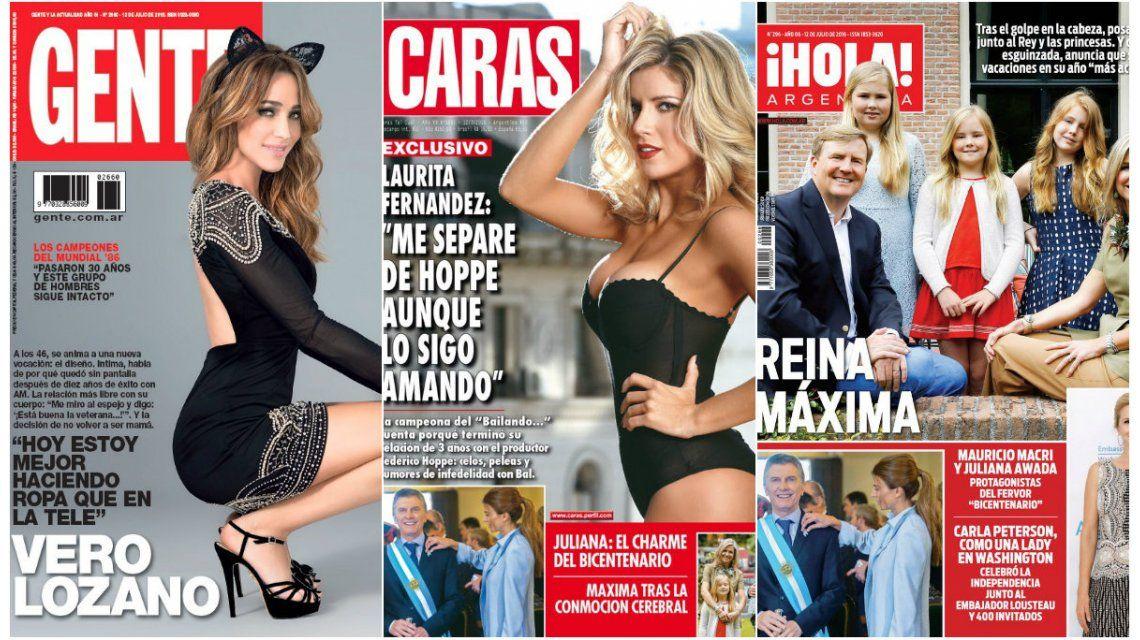 Mirá las tapas de la revistas de esta semana