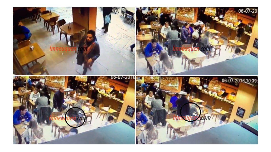 VIDEO: El ingenio de un ladrón para robar una cartera en un bar
