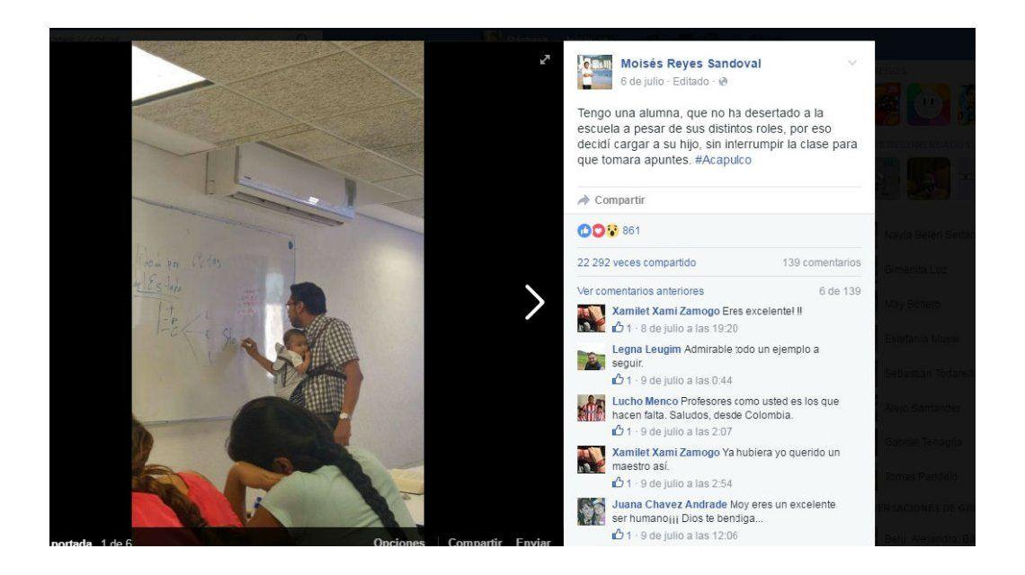 Profesor canguro: dictó una clase con el bebé de una alumna a upa para que pueda tomar apuntes