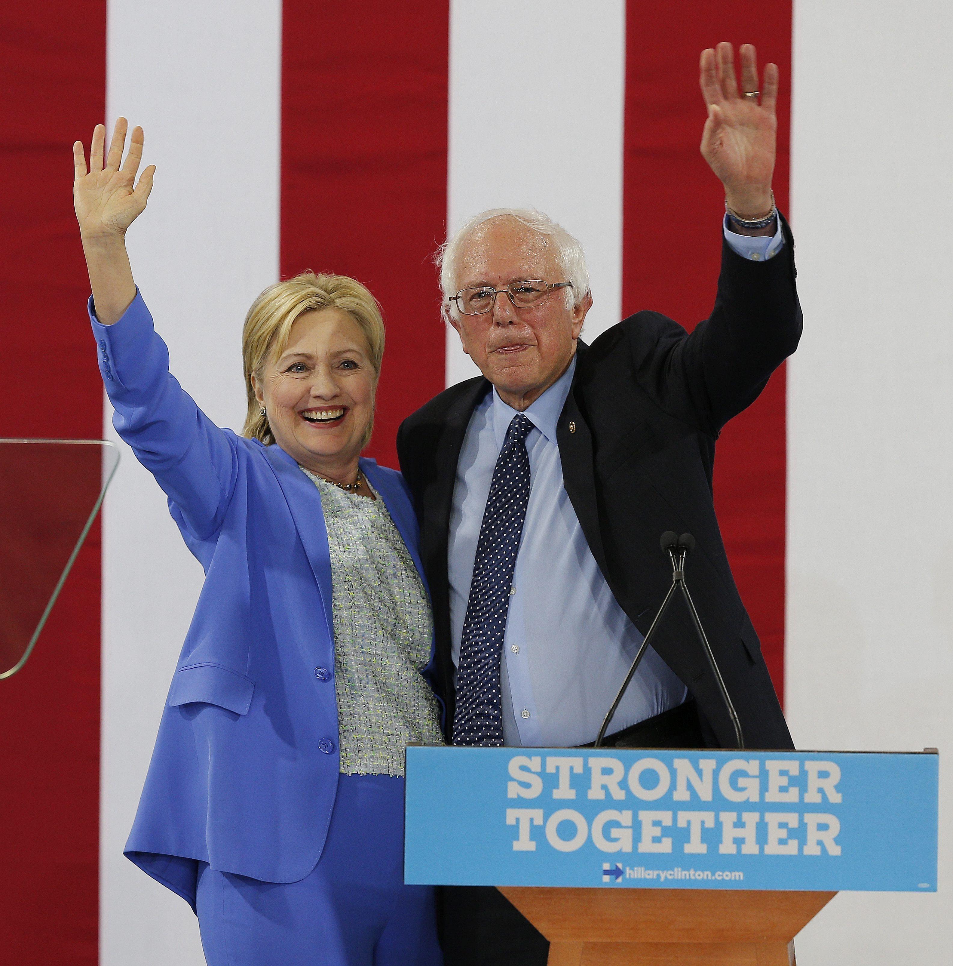 Sanders apoyó a Hillary Clinton: Será la candidata presidencial demócrata