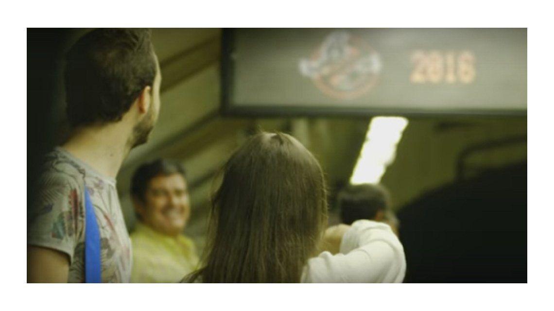 VIDEO: Así sorprendieron los Cazafantasmas en el subte de Madrid