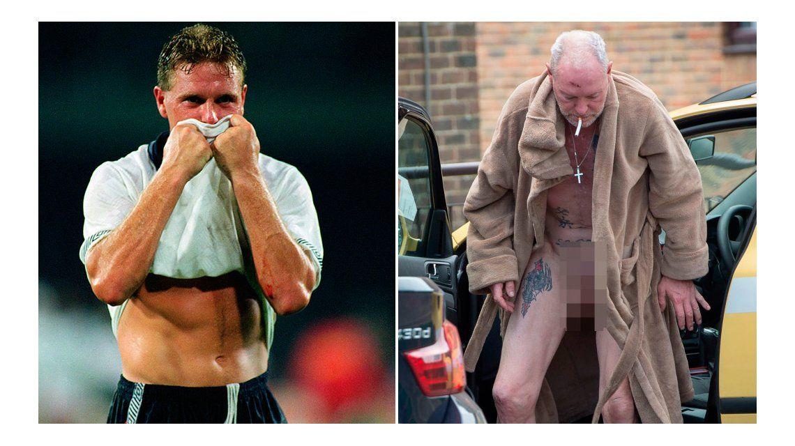 Escalofriantes fotos de una ex estrella del fútbol inglés en su peor estado