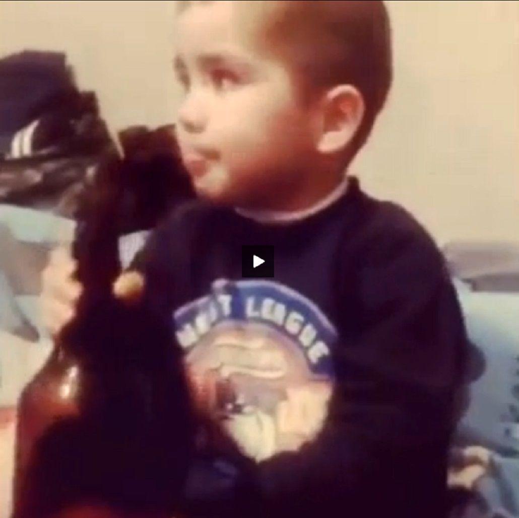 Polémico: padres obligaron a tomar cerveza a su hijo de 3 años y lo filmaron