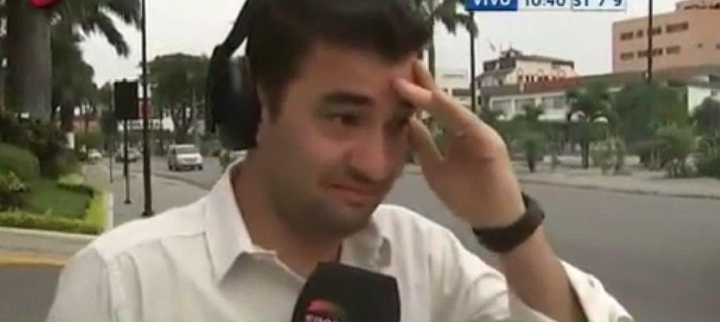 De milagro: un móvil televisivo estuvo a punto filmar una tragedia en vivo