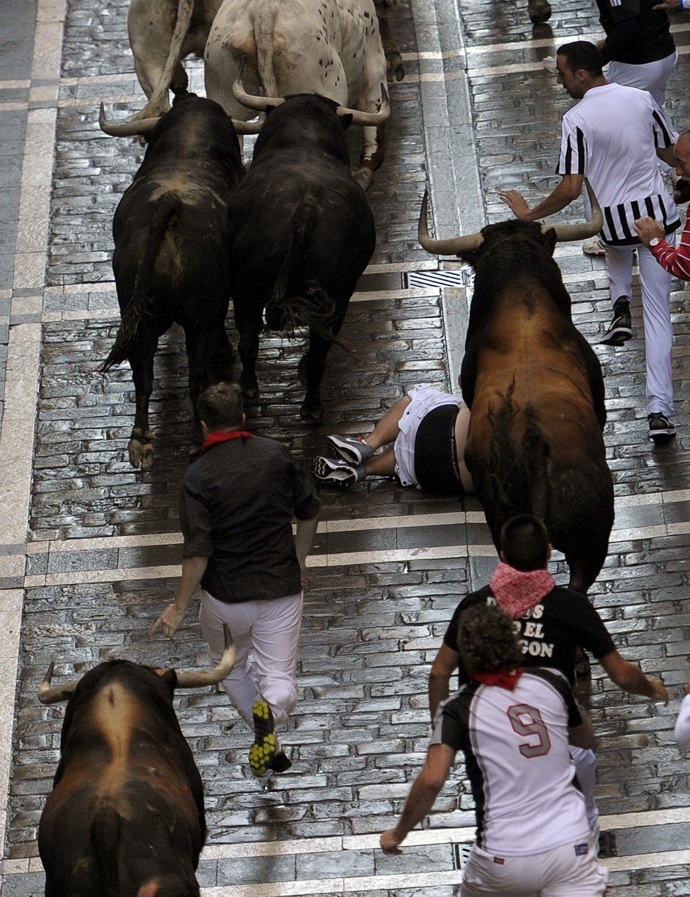 7 de julio es San Fermín: cuatro heridos en el primer encierro