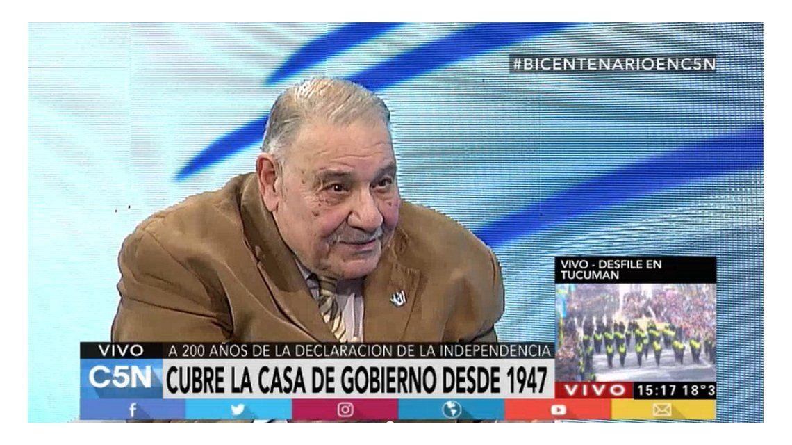 Una institución: Roberto Di Sandro, decano de periodistas de la Casa Rosada