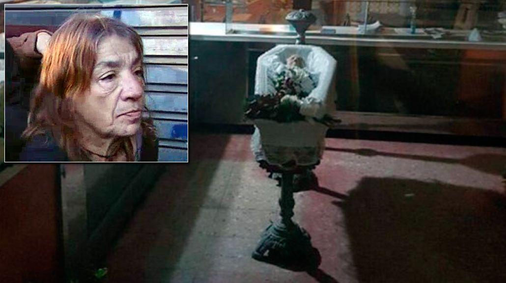 Una mujer vela a su madre en una fábrica de pastas: Fue su última voluntad
