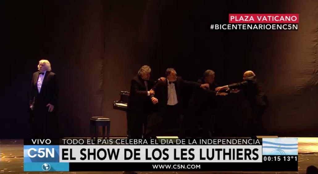 Mirá el show de Les Luthiers por el festejo patrio del Bicentenario