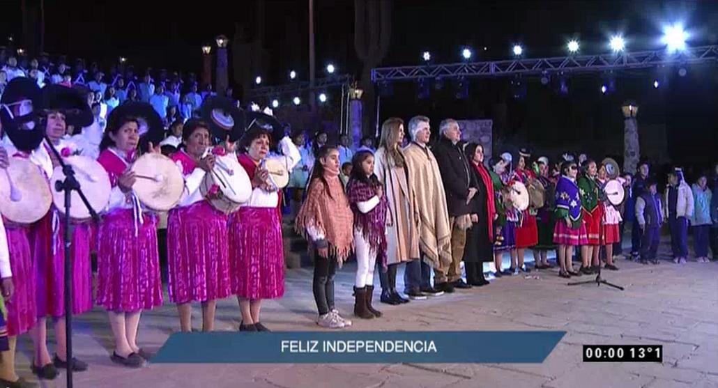 Llegó el Bicentenario: escuchá el himno en el primer minuto del festejo patrio