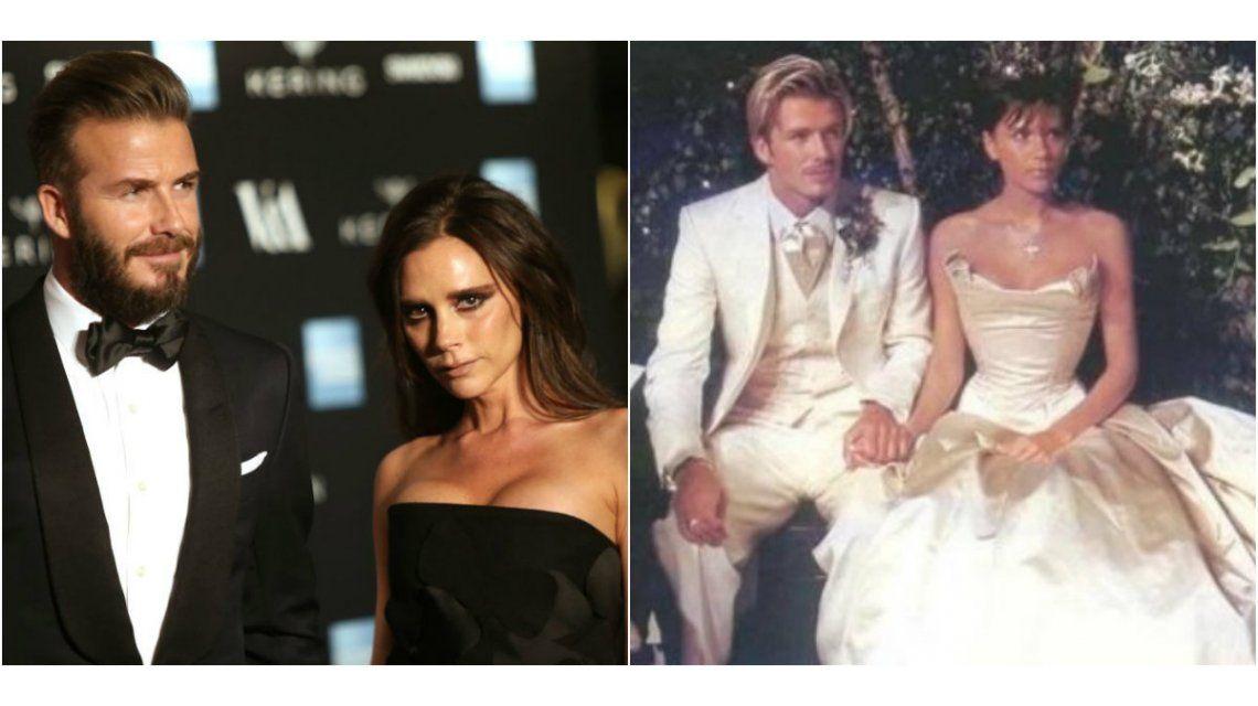 Los Beckham celebraron su aniversario, tras los rumores de infidelidad