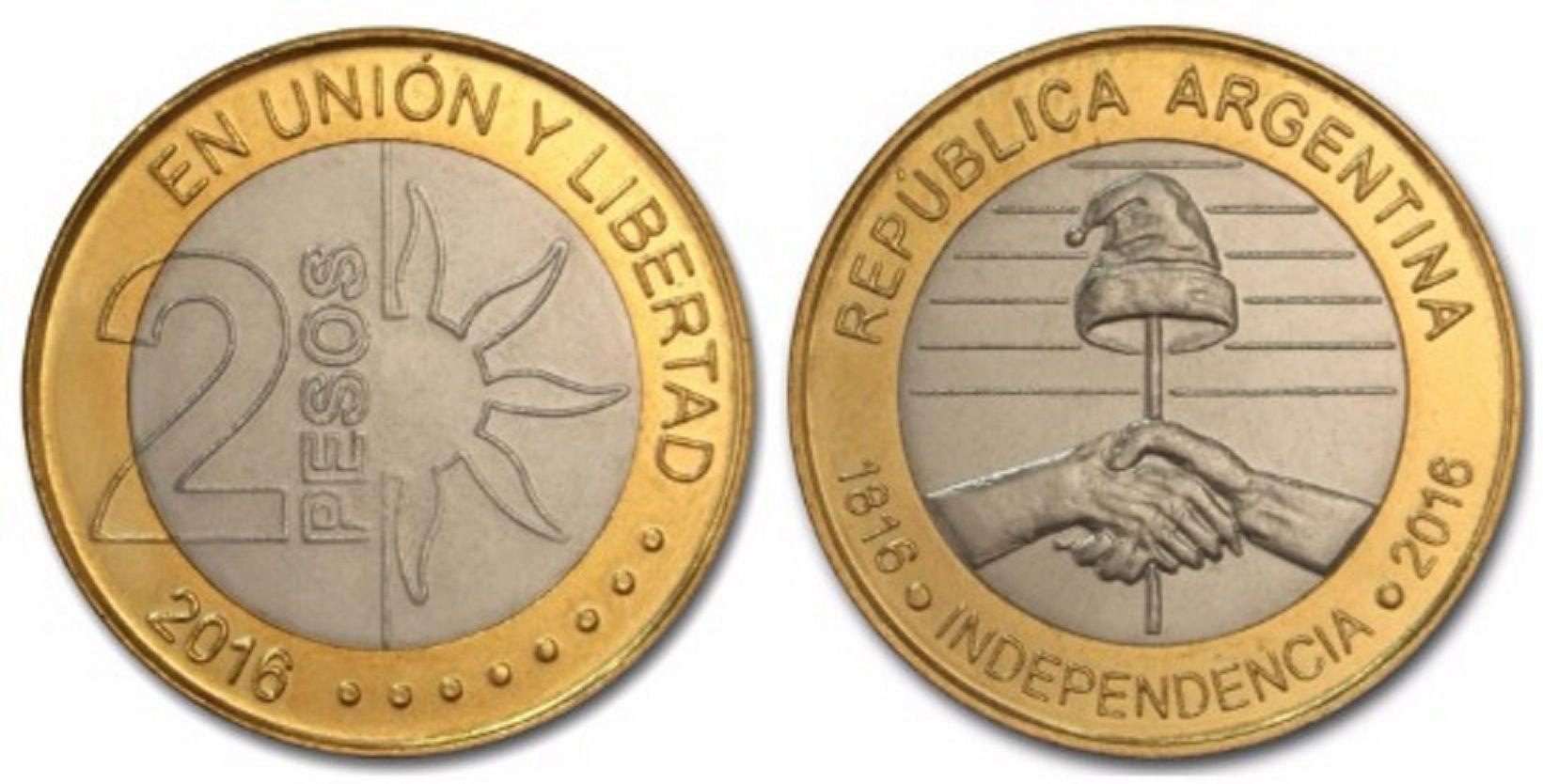 El Banco Central distribuirá monedas de $2 en conmemoración al Bicentenario