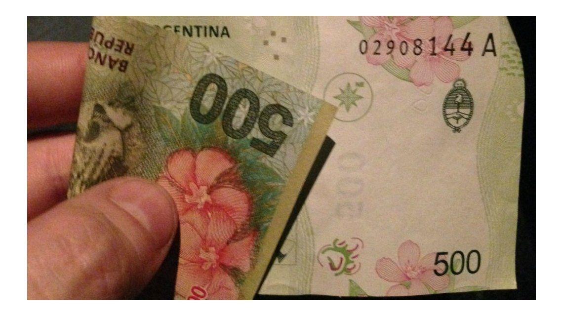 Resultado de imagen para billetes argentinos cortados