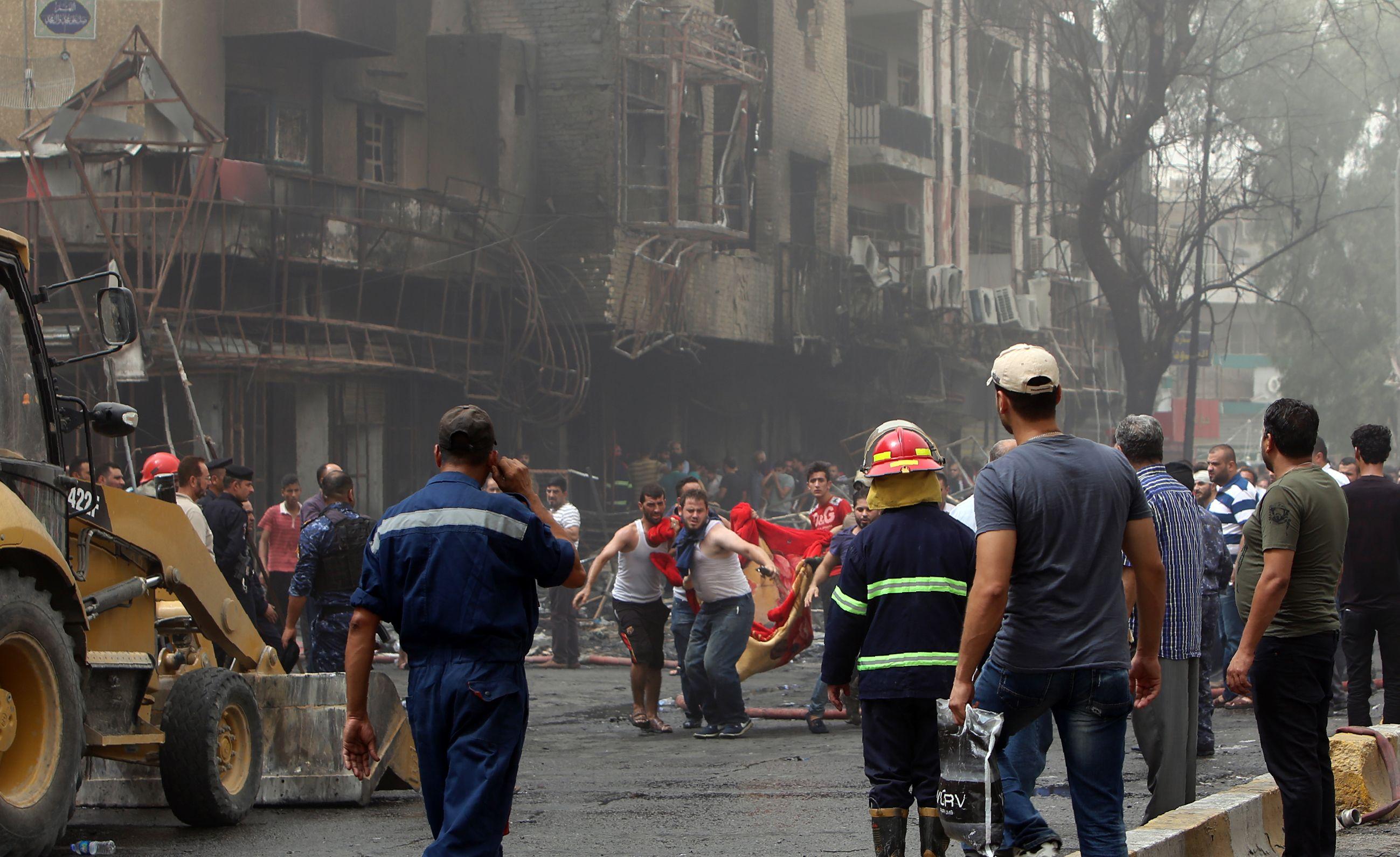 Las fotos del brutal atentado en Bagdad