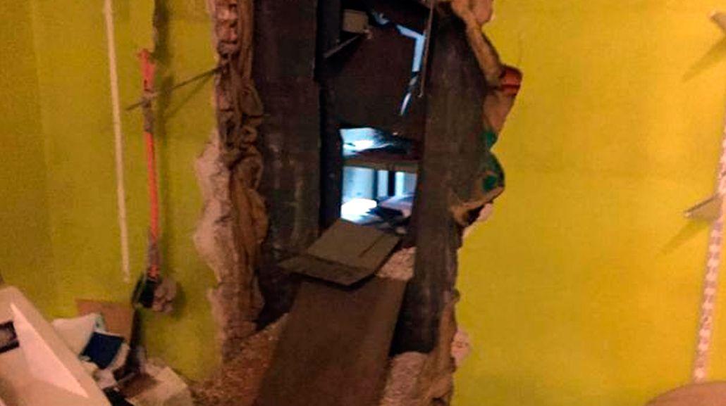 Golpe boquetero a una casa de cambio en La Plata: robaron $120 mil