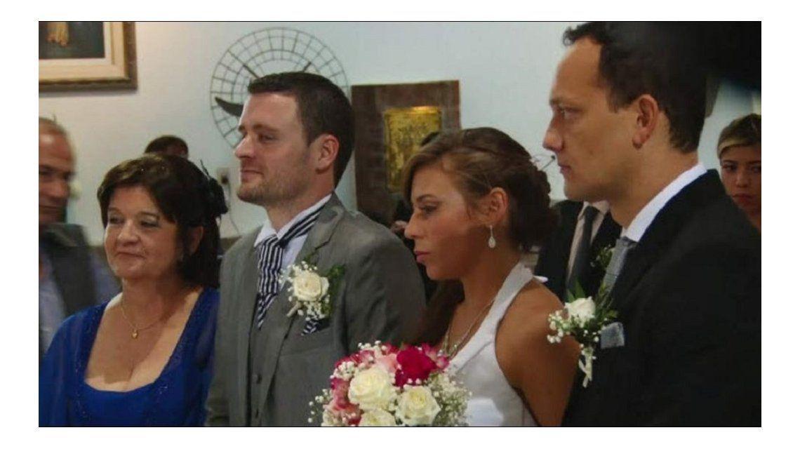 Virginia y Fernando Marengo. El desapareció por dos días cuando tenía que casarse