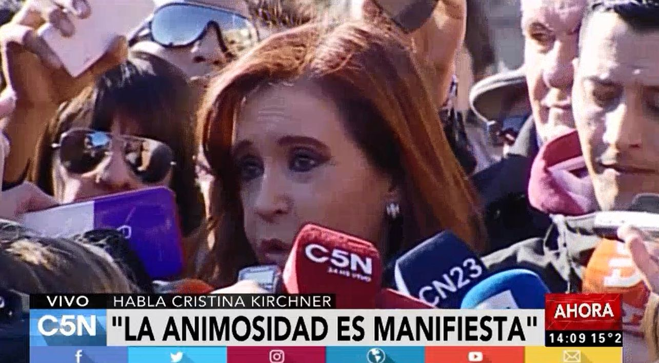 Cristina Kirchner denunció a Stolbizer y al juez Bonadio