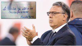 Ya está en casa, el mensaje de la familia Martino desde Rosario