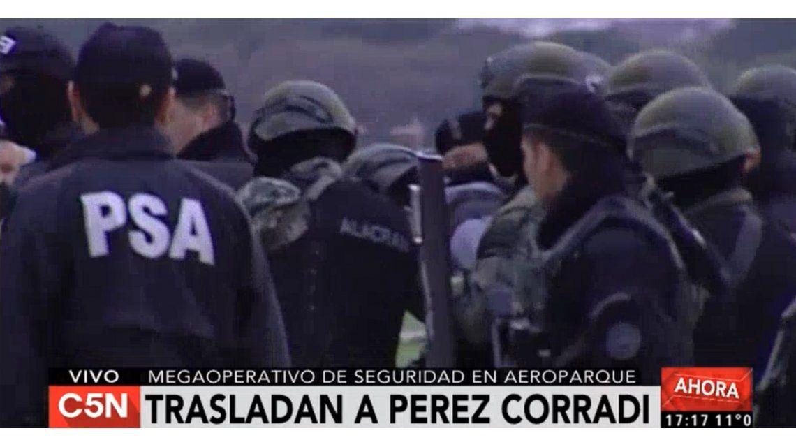 Tras ser extraditado de Paraguay, Pérez Corradi llegó a la Argentina