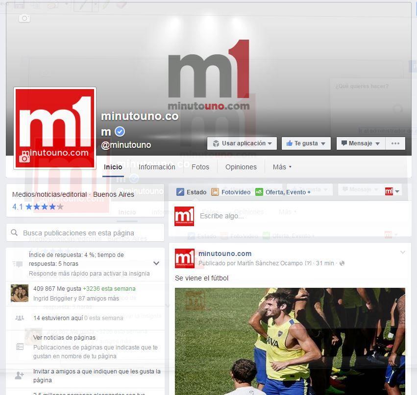 ¿Cómo seguir leyendo minutouno.com en Facebook?