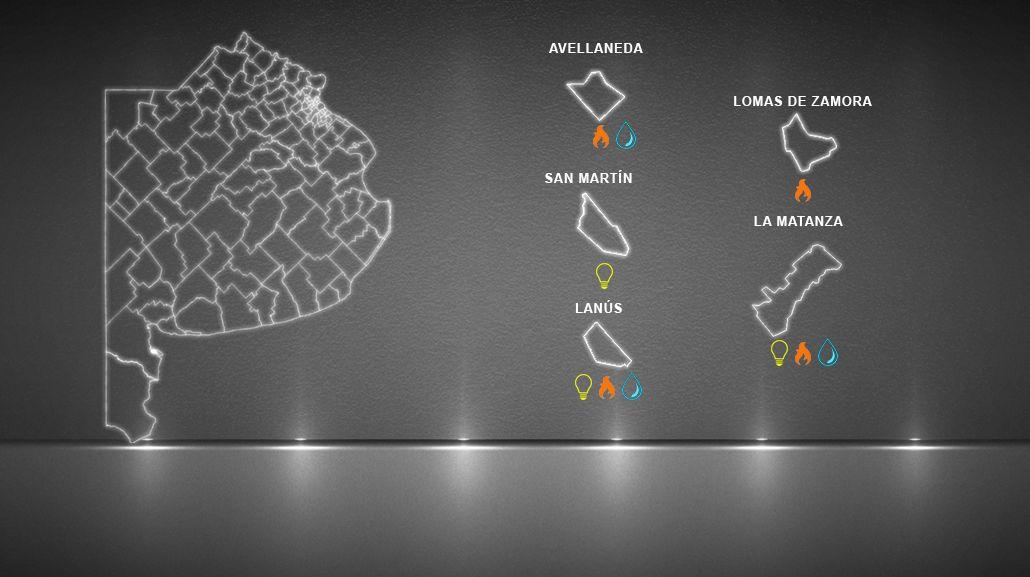 Mirá el mapa de los distritos que frenaron el tarifazo