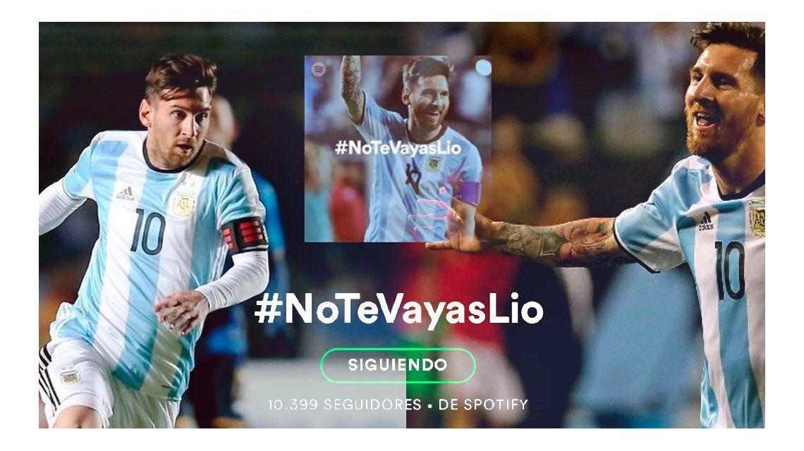 #NoTeVayasLio La lista de Spotify para que Messi no renuncie