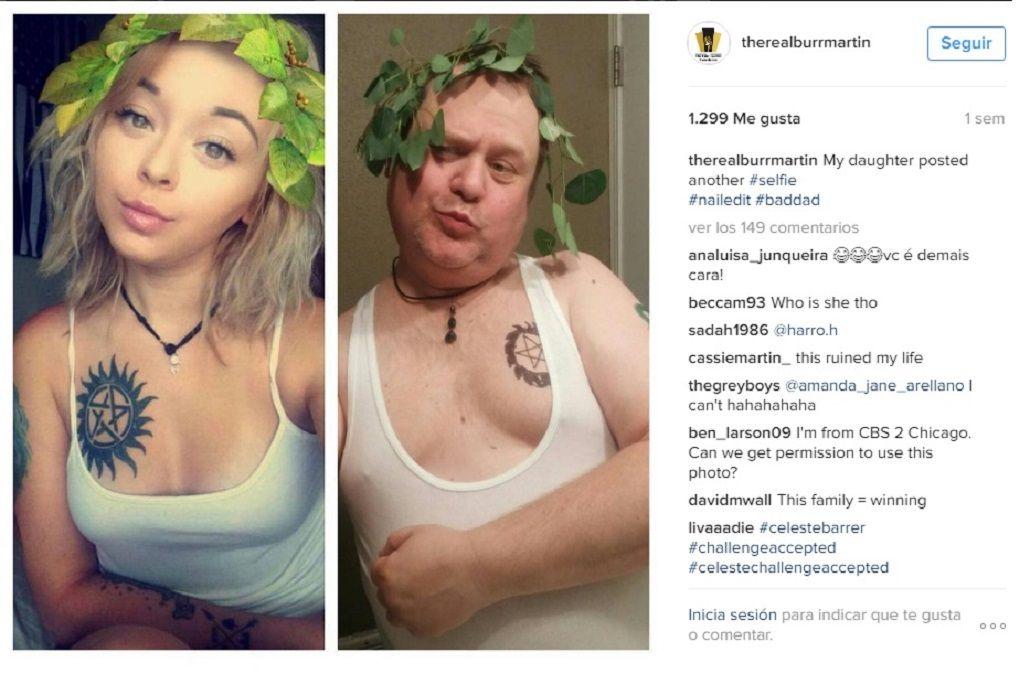 Un padre parodia a su hija para que deje de sacarse fotos sexy en Instagram