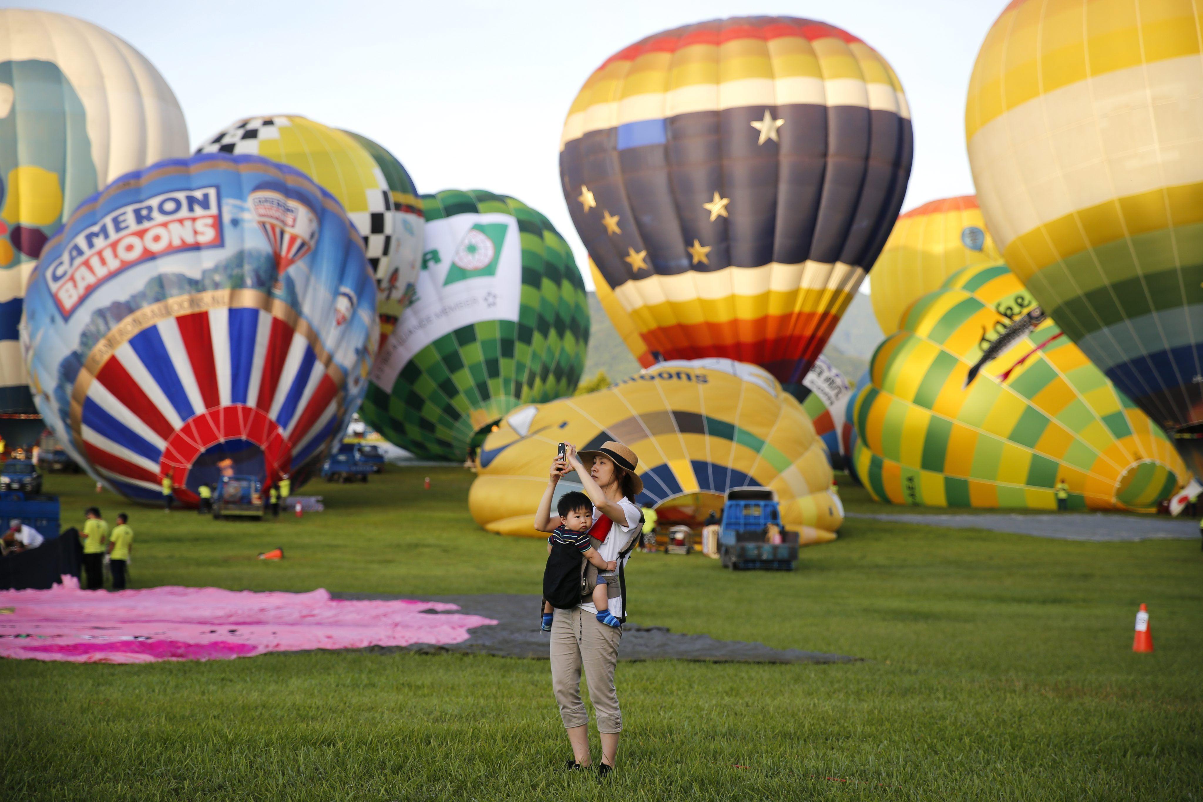 Festival internacional de globos aerostáticos en Taiwán